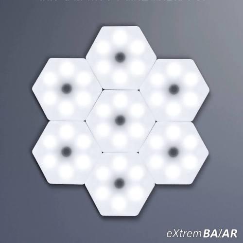 Hatszög alakú távirányítós LED világítás készlet, 1db