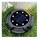 Földbe süllyeszthető, leszúrható solar lámpa / 4 db
