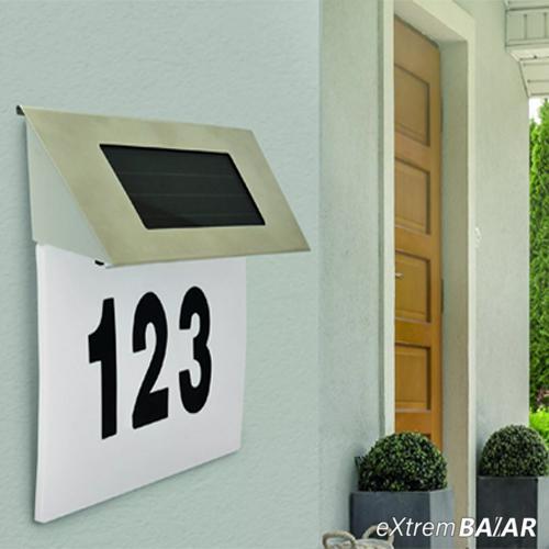 Napelemes világító LED házszámtábla Polux