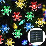 Napelemes Hópehely LED égősor, fényfüzér