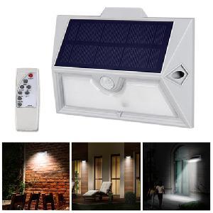 9 LED-es kültéri napelemes PIR mozgásérzékelő távirányító vízálló fali lámpa
