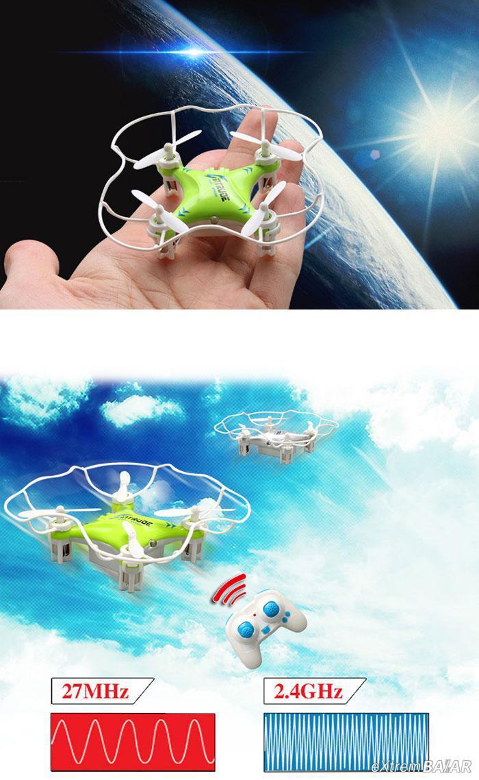 Space Taek Mini Quadcopter ( Drón ) 2,4 Ghz 360 Flip 6 Axis Gyro, Led Lighting 3D Flying