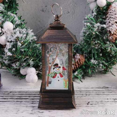 Karácsonyi mintás LED lámpás