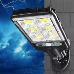 Kültéri, vízálló 120 Wattos napelemes fali lámpa, fény- és mozgásérzékelővel