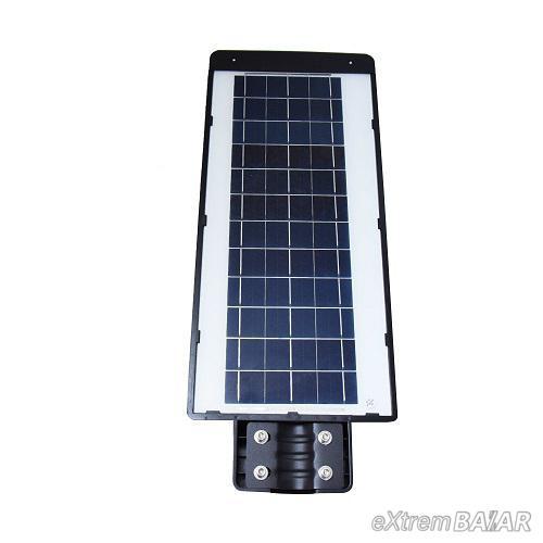 LED térvilágítás távirányítós, napelemes, fény-és mozgásérzékelős utcai szolárlámpa – 150W