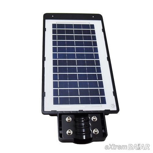 LED térvilágítás távirányítós, napelemes, fény-és mozgásérzékelős utcai szolárlámpa – 200W