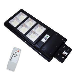 LED térvilágítás távirányítós, napelemes, fény-és mozgásérzékelős utcai szolárlámpa – 300W