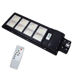 LED térvilágítás távirányítós, napelemes, fény-és mozgásérzékelős utcai szolárlámpa – 400W