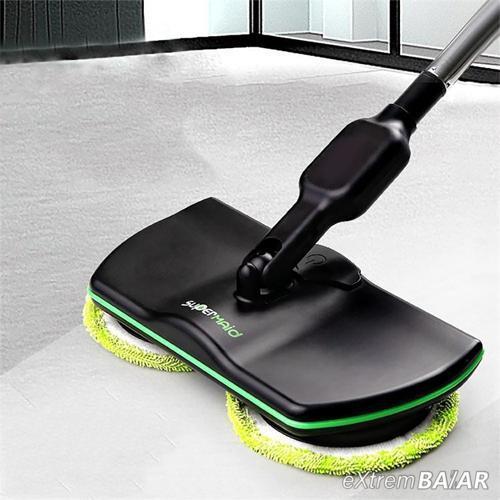 SUPERMAID PADLÓTISZTÍTÓ Újratölthető padlómosó tisztító - polírozó mop -