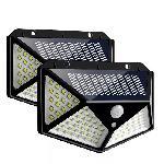 Napelemes mozgásérzékelős fali lámpa 114 LED - EXTRA  SZÉLES SZÖG