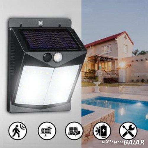 Solar Powered  60LED vízálló mozgásérzékelős kültéri fali lámpa- Extra nagy fényerő