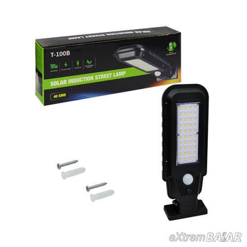 Kültéri, fali napelemes lámpa, fény- és mozgásérzékelővel / 40 leddel - T-100B