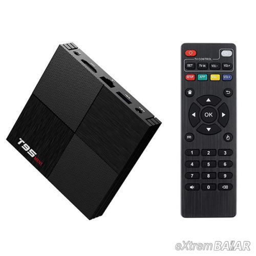 T95 Mini Android Smart TV Box, tv okosító - 4 GB RAM, 64 GB ROM, Quad-Core, Android 9.0, WiFi