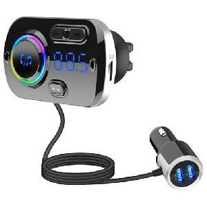 Transmitter BC49BQ Bluetooth autós MP3 lejátszó Fm LED kijelzővel 2 telefonos kapcsolat