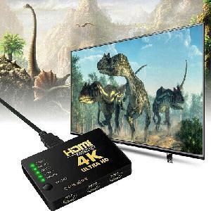 HDMI elosztó – 4K ultra HD / 5 db csatlakozóval, távirányítóval