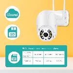 Kültéri Biztonsági IP Kamera Pan / Tilt Wifi kamera HD1080P H.265 Onvif HD PTZ Wifi