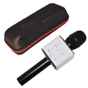 Vezeték nélküli mikrofon és hangszóró egyben elegáns fekete tartóban