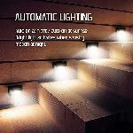 Napelemes mozgásérzékelős fali lámpa 34 LED - széles szög