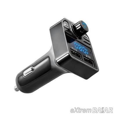 X1 transmitter autó Bluetooth  kihangosító  FM adóval Két USB töltő MP3 zenelejátszó