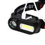 Dupla fényű, akkumulátoros COB+XPE LED fejlámpa