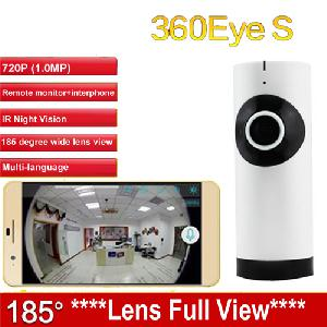 IP kamera HD 720P EC3 185 fokos lencse IPC WiFi kamera panoráma, bébi őr kamera Wireless Felügyeleti CAM 360eyes cctv