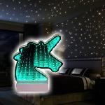 3D LED végtelen tükör