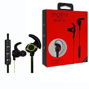 Bluetooth fülhallgató AMW-30 Wireless Sport Stereo  Headset MIC fülkampó, zajszűrés, iPhone Xiaomi IOS