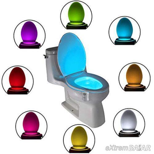 Bowl Light mozgásérzékelő LED WC- és fürdőszobai világítás 7 szín