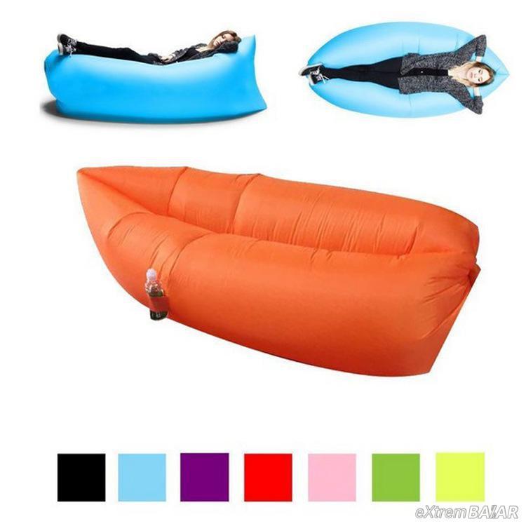 Cloud Lounger - Légágy. Pumpa nélküli Matrac! levegőágy strandoláshoz kempingezéshez