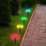 Napelemes színes vízálló leszúrható kerti lámpa