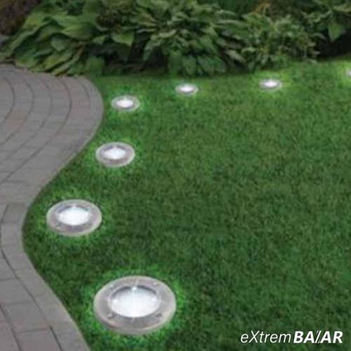 Disk Light 4 db napelemes, leszúrható 8 LED-es kerti lámpa