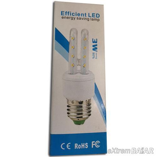 Efficient LED 3W AC85 ~ 265V SMD LED Energiatakarékos 3200k, meleg fehér E14