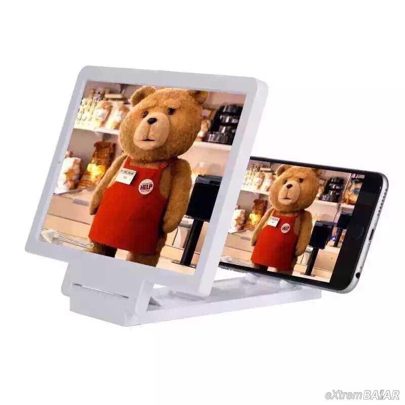 Telefon kijelző nagyító, 3D videó, Összecsukható kibővített Nagyító bővítő Mobil állvány ( Enlarged Screen )