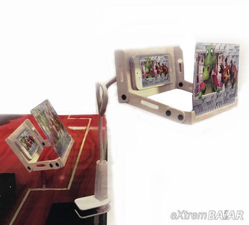 Telefon kijelző nagyító, 3D videó, Összecsukható kibővített Nagyító bővítő Mobil + állvány