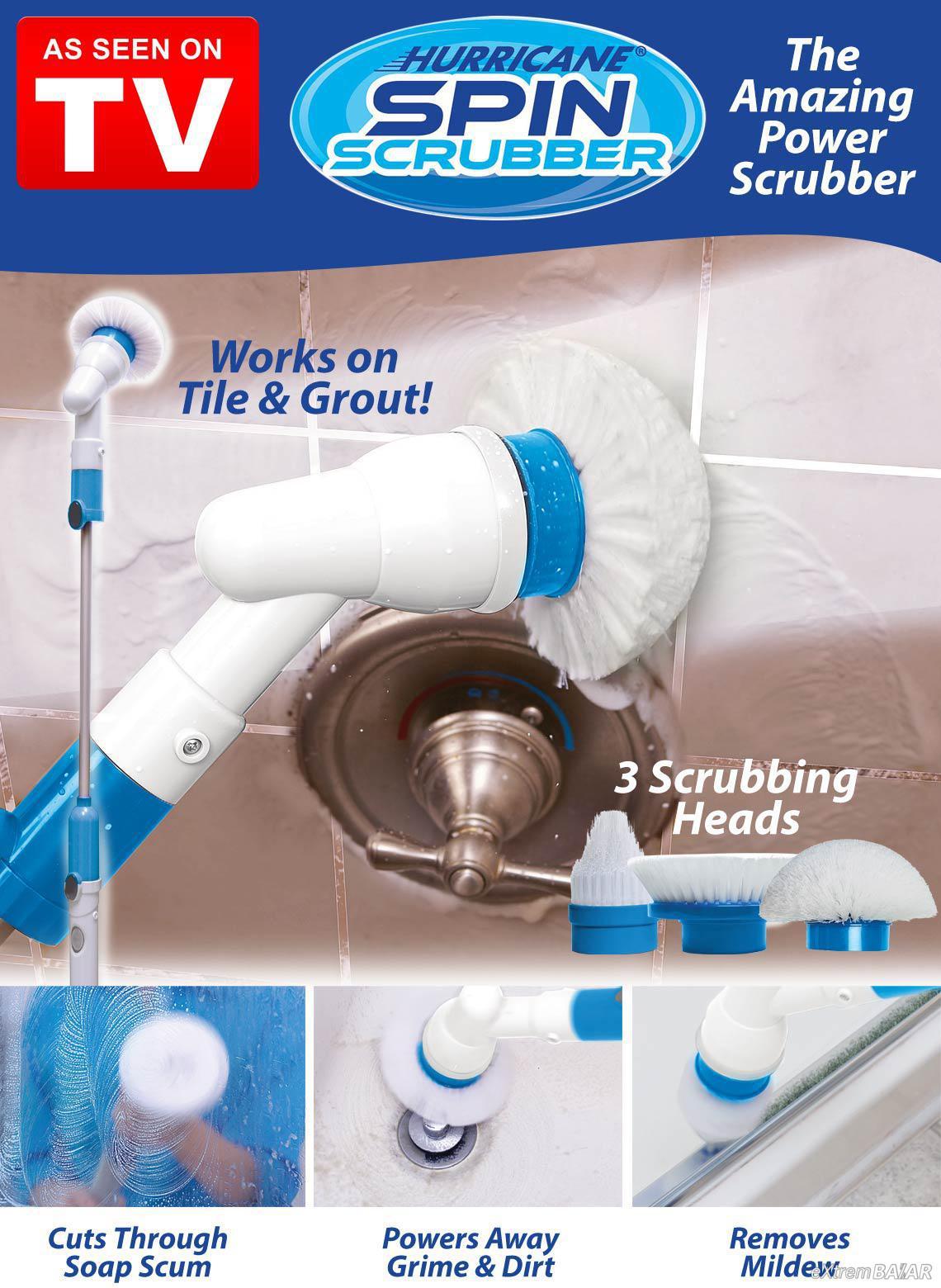Elektromos tisztítókefe, könnyű, praktikus és rendkívül hatékony / Hurricane Spin Scrubber /