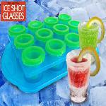 JÉGPOHÁR KÉSZÍTŐ SZETT / 12-Piece Shot-Glass Ice Cube Mold Set /