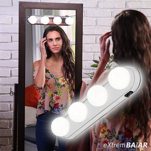 Elemes kozmetikai LED lámpa / tükörre rögzíthető, tapadókorongos sminklámpa