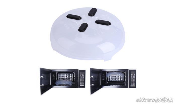 Mágneses mikrohullámú fedél - Linger cover magnetic microwave splatter guard -