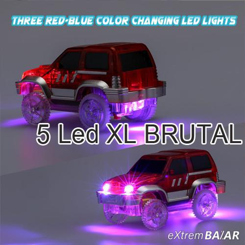 Mágikus autó, 5 LED-es Brutál XL  ( Magic Tracks  5 LED-es Brutál XL Size )
