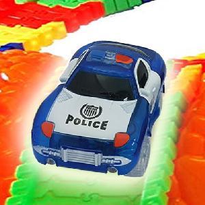 Mágikus autó, 5 LED-es Brutál XL ( Magic Tracks 5 LED-es Brutál XL Size ) POLICE