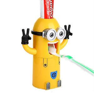 Minionos automata fogkrém adagoló fogkefe tartó - Többfunkciós fogkrém adagoló!