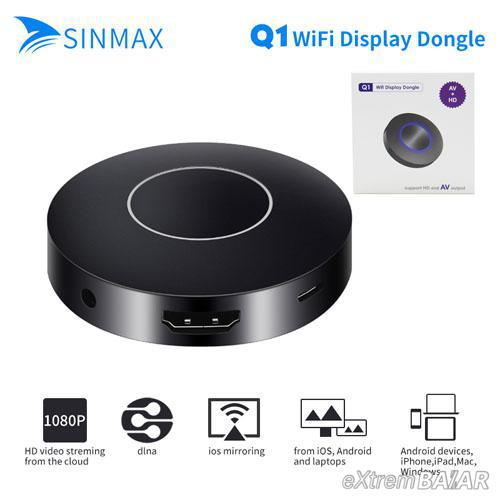 TV okosító DLNA EzCast HDMI AV Wi-Fi kijelző vevő adapter - Q1 wifi display dongle -