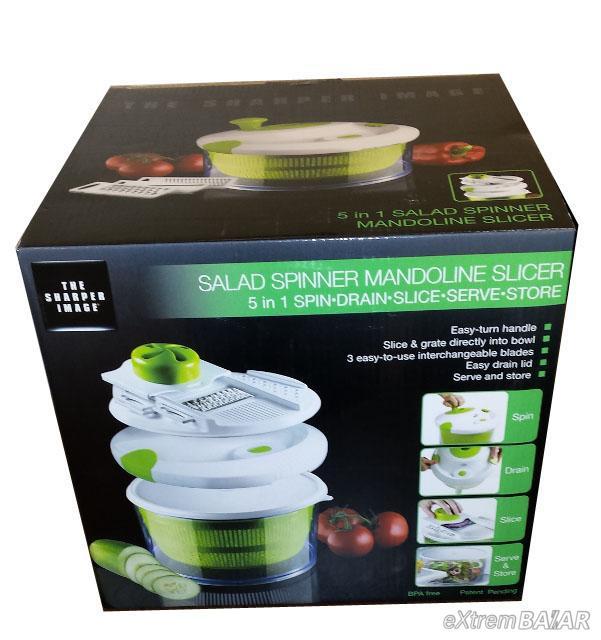 APRÍTÓ KÉSZLET SALÁTÁKHOZ , SALAD SPINNER MANDOLINE SLICER 4-in-1 Salad