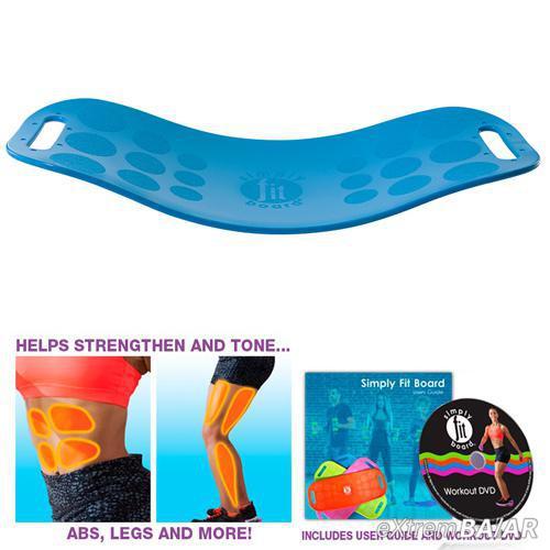 Simply Fit Board®  Fitnesz deszka, DVD felhasználói útmutatóval.