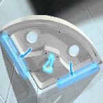 Fürdőszobai sarokpolc tapadókorongokkal