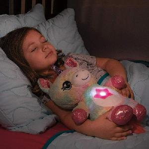 Star Belly világító plüss unikornis / csillagkivetítős éjszakai fény