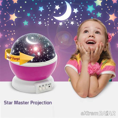 Star Master Projection - Csillag vetítő projektor éjjeli lámpa -