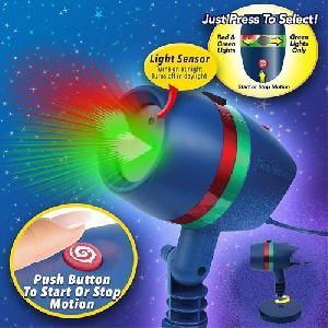Star Shower Motion - mozgó lézerfény rendszer - Leszúrható állvánnyal