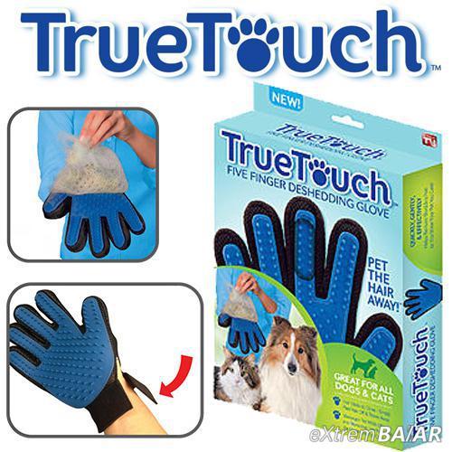 True Touch Deshedding Glove, Kutya macska masszázs szőrtelenítő kesztyű