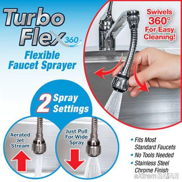 Turbo Flex 360 hajlítható vízcsap tömlő